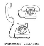 contact us design over white... | Shutterstock .eps vector #266643551