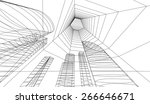 abstract building. architecture ... | Shutterstock .eps vector #266646671