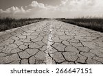 old road with many cracks | Shutterstock . vector #266647151