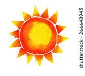 Watercolor Sun. Vector