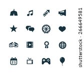 entertainment icons vector set | Shutterstock .eps vector #266649581