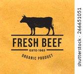 premium beef label with grunge... | Shutterstock .eps vector #266651051