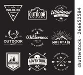 vector set of wilderness and... | Shutterstock .eps vector #266652584