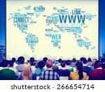 world wide web concept | Shutterstock . vector #266654714