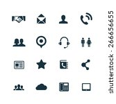 communication icons vector set | Shutterstock .eps vector #266656655
