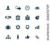 corporate icons vector set | Shutterstock .eps vector #266656709
