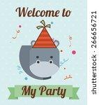 animal party design  vector... | Shutterstock .eps vector #266656721