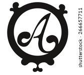 monogram letter a | Shutterstock .eps vector #266657711