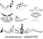 set of  nine vector musical... | Shutterstock .eps vector #26665795