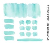 collection of watercolor... | Shutterstock . vector #266660111