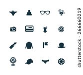 accessories icons vector set | Shutterstock .eps vector #266660219