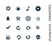 set of audio icons on white... | Shutterstock .eps vector #266662301