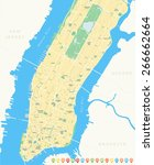 map of new york | Shutterstock .eps vector #266662664