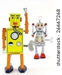 Two Retro Robot Toys