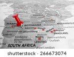Red Marker Over Botswana