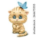 Stock photo kitten 266675555