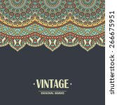 card or invitation. vintage... | Shutterstock .eps vector #266675951