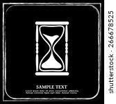 vector illustration of hourglass | Shutterstock .eps vector #266678525