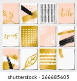 a set of 12 templates for... | Shutterstock .eps vector #266685605