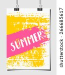 hand drawn brush strokes summer ...   Shutterstock .eps vector #266685617