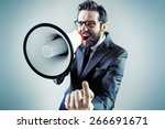 young businessman with a... | Shutterstock . vector #266691671