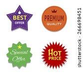 colorful price set  premium... | Shutterstock .eps vector #266698451