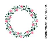 floral frame.  a wreath of... | Shutterstock .eps vector #266700845