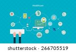 set of flat design vector... | Shutterstock .eps vector #266705519