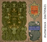 vector vintage items  label art ... | Shutterstock .eps vector #266705621