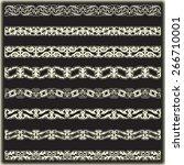 vintage border set for design  | Shutterstock .eps vector #266710001
