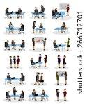 business women  different... | Shutterstock .eps vector #266712701