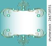 gold openwork frame with...   Shutterstock .eps vector #266718551