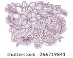 floral doodles. drawing flowers.... | Shutterstock .eps vector #266719841