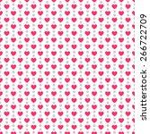 heart shape vector seamless... | Shutterstock .eps vector #266722709