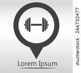 sports gym equipment. dumbbell  ... | Shutterstock .eps vector #266732477