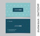 business card template  blue... | Shutterstock .eps vector #266732549