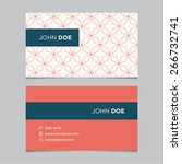 business card template  red... | Shutterstock .eps vector #266732741