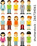 people characters avatars set... | Shutterstock .eps vector #266734061