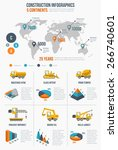 construction infographics.... | Shutterstock .eps vector #266740601