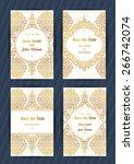 vintage ornate cards in... | Shutterstock .eps vector #266742074