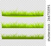 three kinds of grass vector... | Shutterstock .eps vector #266753591