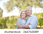 close up portrait of a happy... | Shutterstock . vector #266763089
