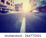 an empty street scene during... | Shutterstock . vector #266772431