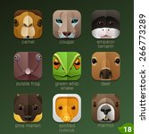 animal faces for app icons set... | Shutterstock .eps vector #266773289