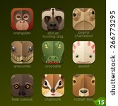 animal faces for app icons set... | Shutterstock .eps vector #266773295