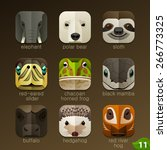 animal faces for app icons set... | Shutterstock .eps vector #266773325