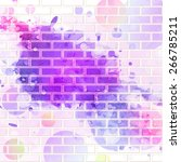 abstract background  brick wall ... | Shutterstock .eps vector #266785211
