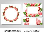 abstract flower background with ... | Shutterstock . vector #266787359