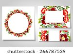 abstract flower background with ... | Shutterstock . vector #266787539