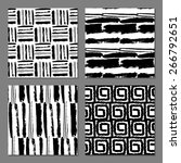 set of 4 fantasy abstract... | Shutterstock .eps vector #266792651